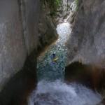 Salto en el barranco de Otín