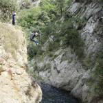 Salto en el Barranco del Llech